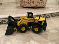 TONKA MIGHTY FRONT END LOADER, kids toy truck, yellow/black, USED,