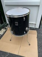 "Free P&P. 16"" Floor Tom w Legs. Black Finish. 16x15"" FT009111"