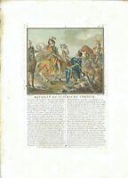 17TH OLD PRINT ANTIQUE ORIGINAL COLOR GRAVURE BATTLE ST AUBIN DU CORMIER 1488