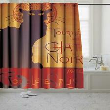 "Carnation ""Chat Noir"" Museum Collection Polyester Fabric Shower Curtain 70""x72"""