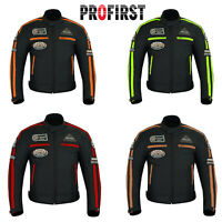Mens Waterproof Motorcycle Motorbike Cordura Textile Jackets Rider CE Armour New