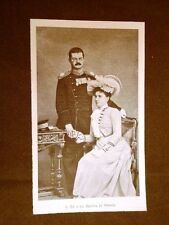 Re e Regina di Serbia nel 1900 Alesandro e Draga Maschin