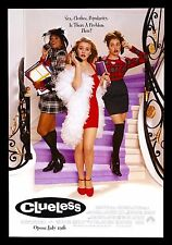 CLUELESS * CineMasterpieces ORIGINAL MOVIE POSTER ROLLED SS 1995 MEAN GIRLS