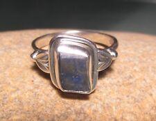 Sterling silver everyday ROUGH KYANITE ring UK M½-¾/US 6.75. Gift bag.