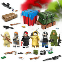 6pcs Militär Soldaten mit Waffen Bausteine Armee Figuren Survive Games Spielzeug