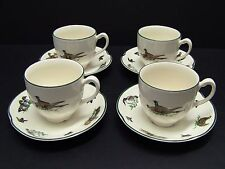 Johnson Brothers Brookshire Wild Game Birds Cups and Saucers / Set of 4 / Unused