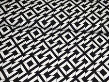 Baumwolle Baumwollstoff Geometric schwarz weiß Meterware Patchwork Taschen