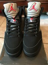 2006 Nike Air Jordan V 5 Retro BLACK SILVER WOLF GREY FIRE RED 136027-004 NEW 12
