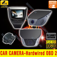 In Car Camera Dash Cam 1080P Video Blackbox Crash Backup Hardwired Parking Mode
