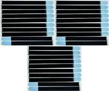 20x Kabelklett Klettband 800 x 50 mm hell blau Öse Klett Kabelbinder Klettbänder