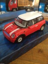BMW Mini Cooper in Bright Red By Teamsterz 1-43 Die Cast Metal Plastic Parts New