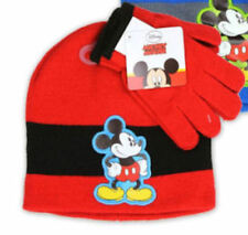 Mickey Mouse Boys Hat And Gloves Set, Toddler, Red, One Size, Acrylic