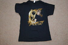 HUNGER GAMES GOLD FIRE PEETA LADIES SKINNY T SHIRT XL NEW OFFICIAL FILM MOVIE