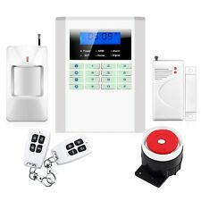 Wireless/Wired GSM SMS PSTN Dual-network DIY Home Security Burglar Alarm System