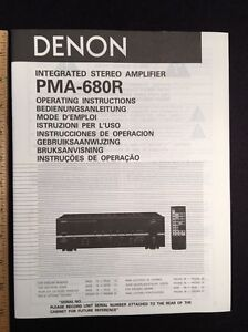 Denon PMA-680R Integrated Amplifier Original Owners Manual Combined Language p45