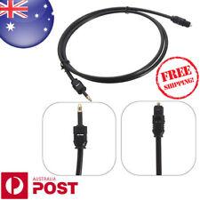 2M Toslink to Mini Plug 3.5mm Digital Optical Fiber SPDIF Audio Cable Lead Z095F