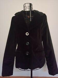 BNWT RRP $128 PRINCESS HIGHWAY * Midnight In Velvet Blazer* Black Size 10