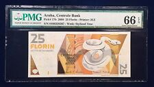Aruba, Centrale Bank P17b 25 Florin PMG 66 Gem Unc EPQ