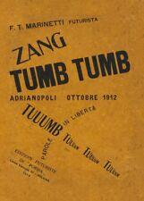Zang Tumb Tumb, 1914, Filippo Tommaso Marinetti Vintage Futurism Poster
