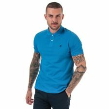 Men's Timberland Millers River Regular Fit Short Sleeve Polo Shirt in Blue