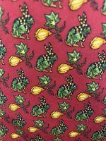 Salvatore Ferragamo Mens Silk Designer Necktie Italy Red Green Rabbit Tie EUC