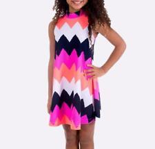 BONNIE JEAN Little Girls' 5 Chevron Print Swing Dress NWT