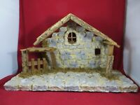 NATIVITY,CHRISTMAS MANGER, STABLE,CRECHE ONLY  20 X 13 LARGE MANY DETAILS