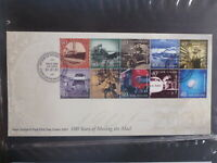 NEW ZEALAND 2001 100yrs OF MOVING MAIL SET/STRIP 10 STAMPS FDC FIRST DAY COVER