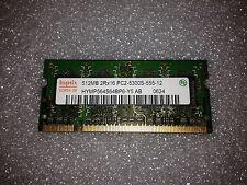 Memoria SoDimm DDR2 Hynix HYMP564S64BP6-Y5 AB 512MB PC2-5300 667MHz CL5 200 Pin