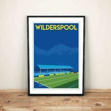 More details for warrington wolves, wilderspool retro art print poster