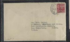 SAMOA COVER (P1501B)  1936 HUT 1D COVER TO USA