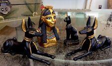Set of 4 Summit Veronese Egyptian Figurines Rare Goddess Isis Pair Anubis Bastet