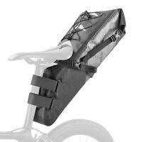 ROCKBROS Bike Pannier Pack MTB Road Bike Waterproof Rear Bag Seat Bag Black