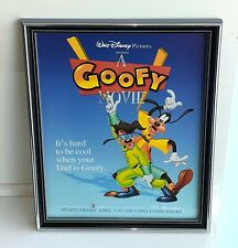 A Goofy Movie Framed Ad Vintage Original 1995 Disney