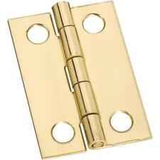 "25 Pk Solid Brass 1"" Wide X 1 1/2"" High Jewelry Box Chest Hinge 2/Pk N211292"