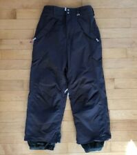 BURTON RONIN Gray Snowboard Pants Adjustable Waist Sz XL Multi Pockets