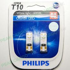 2x PHILIPS T10 12V White Light 6000K LED Car Position Interior Lamps Sidelights