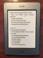 Amazon Kindle Touch D01200, Wi-Fi, 6in - Gray - B011 - Tested. Cheap priced.