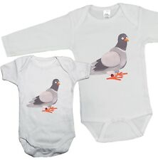 Cute PIGEON SQUAB Babygrow Vest Bodysuit bird racing sport Boys Girls Baby Gift