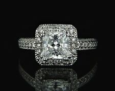 2 CT PRINCESS SOLITAIRE DIAMOND VS2/H ENGAGEMENT RING IN 18K WHITE GOLD