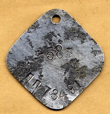 WWII SOVIET RED ARMY DOG-TAG ID-TAG ORIGINAL WW2, VERY RARE - FIELD POST NUMBER