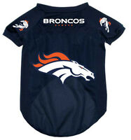 NEW DENVER BRONCOS PET DOG MESH FOOTBALL JERSEY ALL SIZES ALTERNATE STYLE