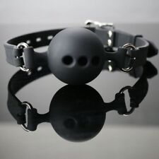 Leather Band Restraints Ball Oral Mouth Gag Fetish Toy Fixation Mouth Stuff FA3