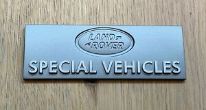 Genuine Land Rover Special Vehicles Badge - Defender - Discovery