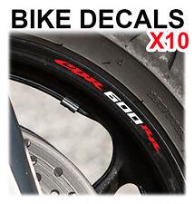 10X HONDA CBR 600RR MOTORCYCLE BIKE WHEEL STICKERS DECALS TAPE RIMS