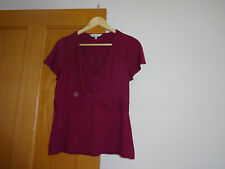 Ladies, fuchsia,  East top, size 12