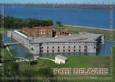 Fort Delaware Pea Patch Island Confederate Civil War Prisoners Military Postcard