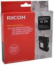 Original Ricoh Gc 21K GC21K 405532 Gel Encre Noir Mhd 01-03/2018