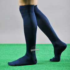 FOOTBALL PLAIN LONG SOCKS SPORT KNEE HIGH LARGE HOCKEY RUGBY MENS WOMENS