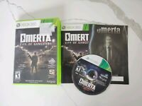 Omerta: City of Gangsters (Microsoft Xbox 360, 2013) Complete Free Fast Shipping